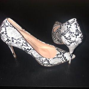 Liliana snakeskin heels